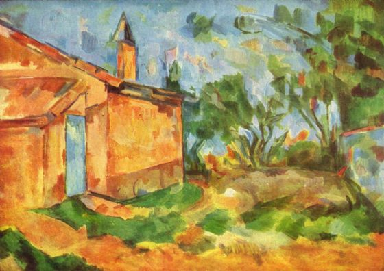 Cezanne, Paul: Le Cabanon de Jourdan. Fine Art Print/Poster. Sizes: A4/A3/A2/A1 (001025)